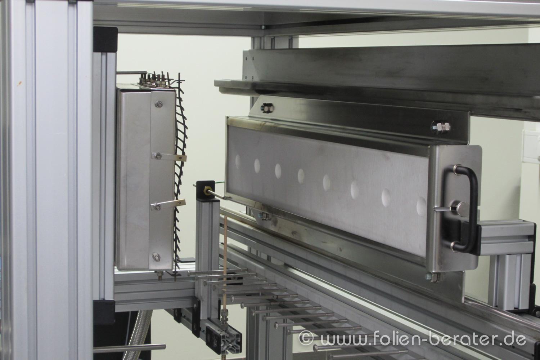Prüfeinrichtung im Brandlabor der DB Systemtechnik