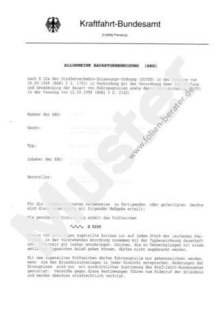 ABG D5020 für Kfz-Tönungsfolie