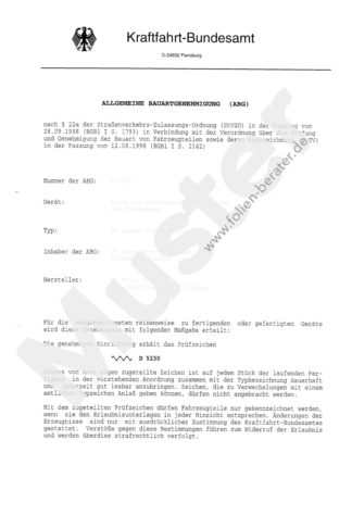ABG D5431 für Kfz-Tönungsfolie
